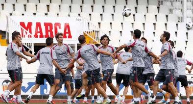 Un entrenamiento reciente del Valencia CF. FOTO:www.valenciacf.es