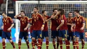 Los jugadores de España celebran  un gol. FOTO:www.teinteresa.es