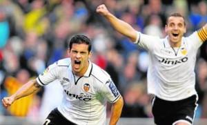 Ricarco Costa celebra su gol ante el Mallorca. FOTO:www.abc.es