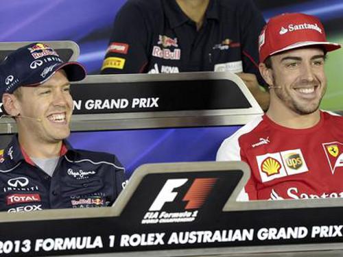 Sebastian Vettel y Fernando Alonso. FOTO:www.deportes.terra.com.co