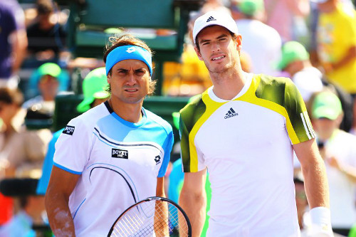 David Ferrer y Andy Murray posan antes de la final. FOTO:www.heraldo.es