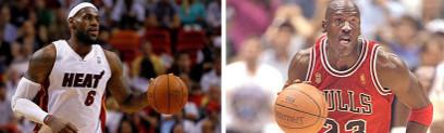 LeBron James y Michael Jordan.