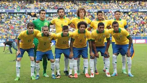 Una alineación reciente de Brasil. FOTO: EFE