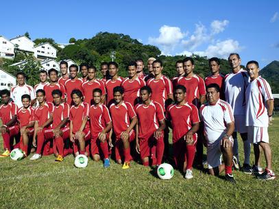 La selección de Tahití. FOTO:deportes.terra.es