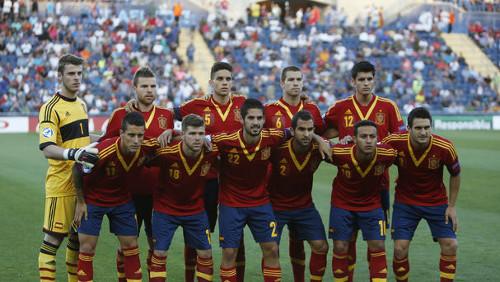 Un once de la selección española sub'21 de fútbol. FOTO:cuatro.com