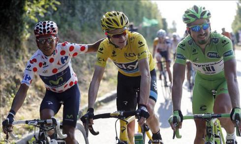 Quintana, Froome y Sagan. FOTO:que.es