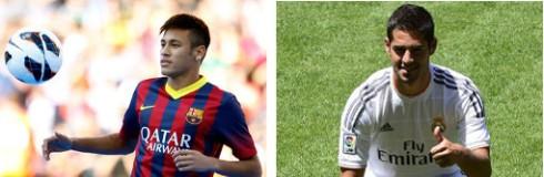 Neymar (Barcelona) e Isco (Real Madrid).