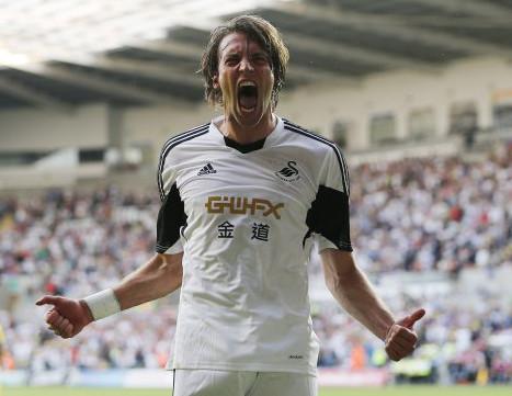 El español Michu, estrella del Swansea.