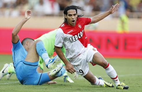 Falcao, en un partido con el Mónaco
