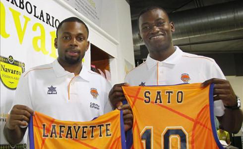 Lafayette y Sato, dos de los fichajes del Valencia Basket.