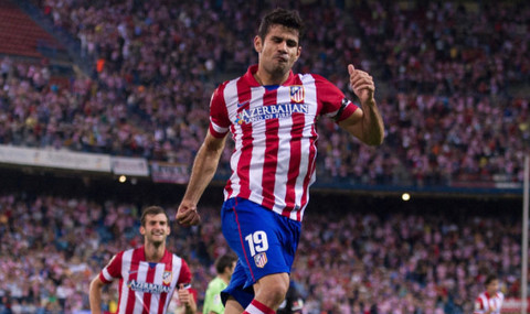 Diego Costa celebra un gol.