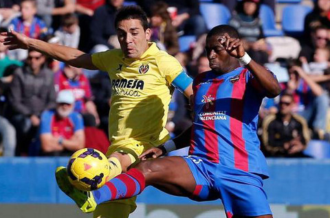 Imagen del Levante-Villarreal disputado el 24 de noviembre de 2013.