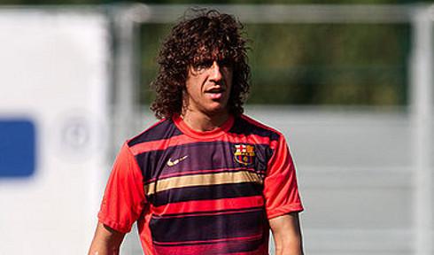 Carles Puyol, en un entrenamiento