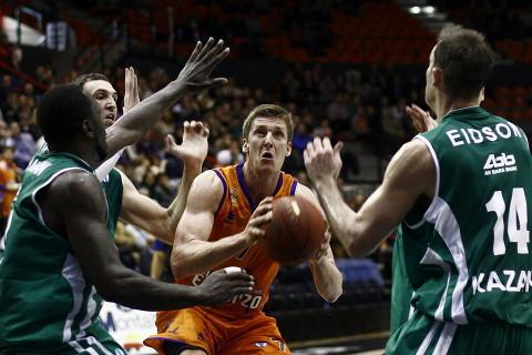 Uno de los enfrentamientos entre Valencia Basket y Unics Kazan de esta temporada.