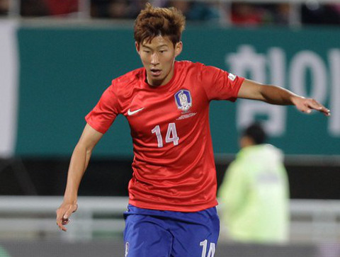 Heung-Min Son, delantero de Corea del Sur.