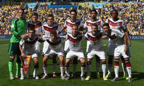 Alineación de Alemania en la final.