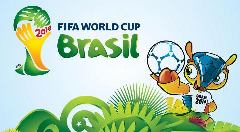 Imagen del logo y de la mascota de la Copa del Mundo de fútbol Brasil 2014