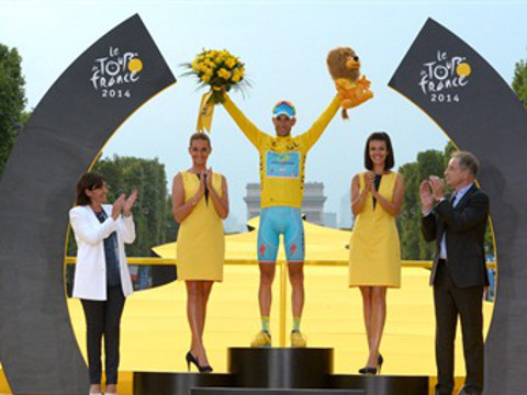 Vicenzo Nibali, ganador del Tour de Francia 2014.