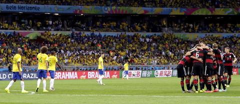 Alemania humilló a Brasil en su casa. FOTO: Taringa.net