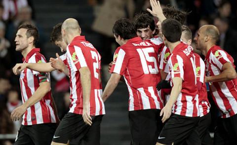 El Athletic de Bilbao, en un partido de la temporada pasada.