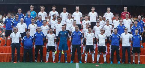 El Valencia CF, en su presentación.