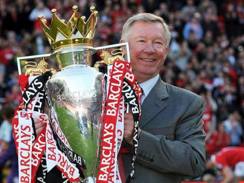 Alex Ferguson, leyenda viva del Manchester United.