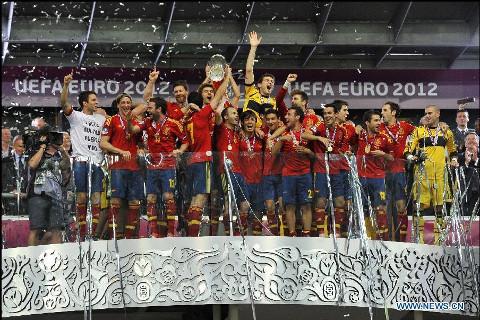 España es el actual campeón de la Eurocopa.