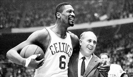 Bill Rusell y Red Auerbach, artífices del dominio de los Boston Celtics.