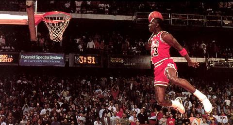 Michael Jordan, posiblemente el mejor de todos los tiempos.