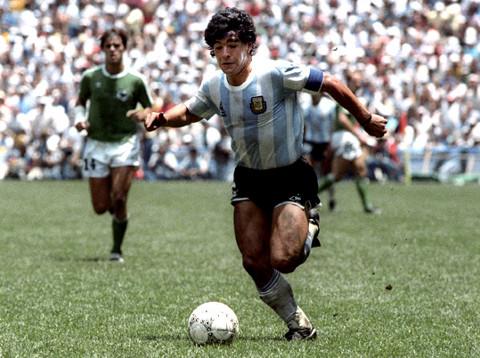 Maradona guió a Argentina al título mundial en 1986.