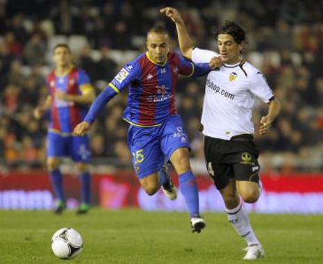 Valencia y Levante se enfrentaron en la Copa del Rey 2011/2012.