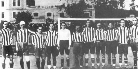 El Athletic Bilbao campeón del año 1921.