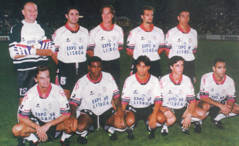 Un once del Salamanca cuando militaba en Primera División
