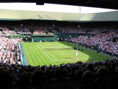 Pista central de Wimbledon, torneo con casi 140 años de historia.