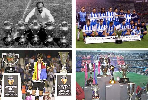 Imágenes de las épocas doradas de Real Madrid, Deportivo, Valencia y Barcelona