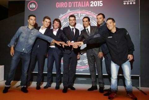 Presentación del Giro de Italia 2015.