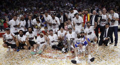 El Real Madrid, campeón de la Euroliga 14/15.