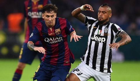 Messi y Vidal, durante la final de Berlín.
