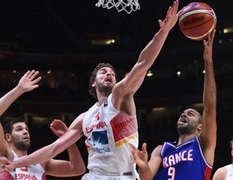 Imagen de la semifinal España-Francia.
