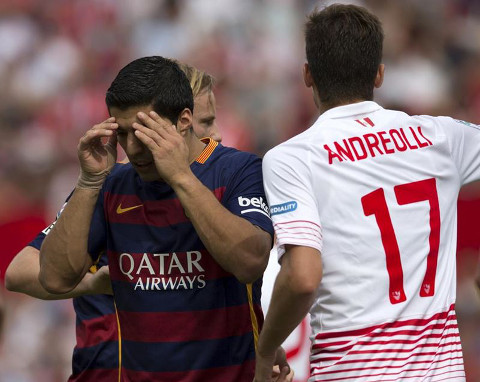 El Barcelona, sin Messi, perdió en Sevilla.