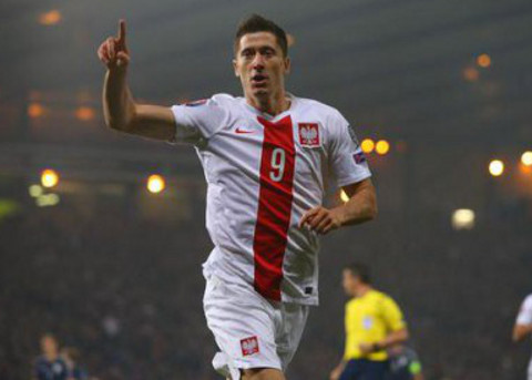 Lewandowski ha anotado 13 goles en las eliminatorias.